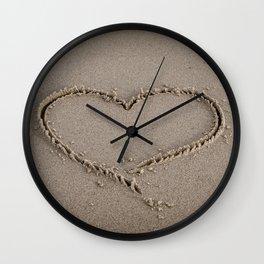 Heart Love Sand Wall Clock