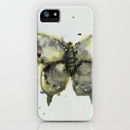 Yellow and Gray Butterfly iPhone Case