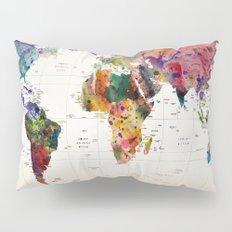 map Pillow Sham
