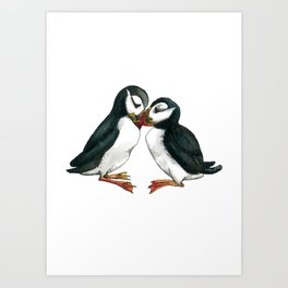 I Puffin Love You Art Print