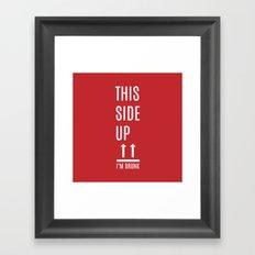 This side up Framed Art Print