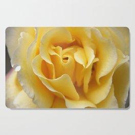 Single Yellow Rose Cutting Board
