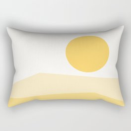 Abstract Landscape 09 Yellow Rectangular Pillow