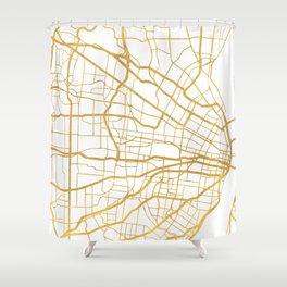 ST. LOUIS MISSOURI CITY STREET MAP ART Shower Curtain
