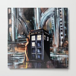 Doctor Who Art Painting Metal Print