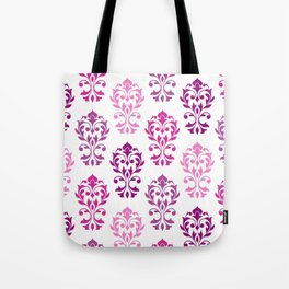 Heart Damask Art I Pinks Plums White Tote Bag