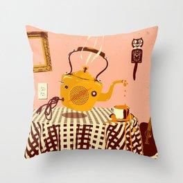 ORANGE TEA SPILL Throw Pillow