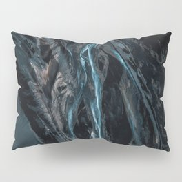 Abstract River in Iceland - Landscape Photography Pillow Sham