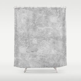 Gray Concrete Shower Curtain