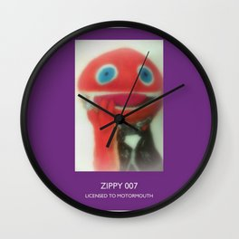 Zippy 007 Licensed To Motormouth Wall Clock