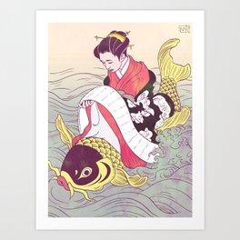 Harunobu Art Print