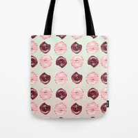 donuts Tote Bags featuring Donuts!! by Oh Monday