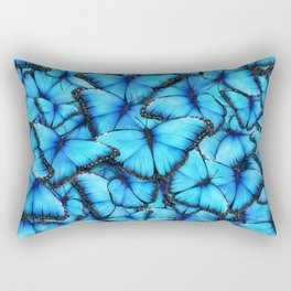 Peace of the Blue Butterfly Rectangular Pillow