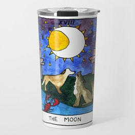 "Watercolor Tarot Card ""The Moon"" by Artume Travel Mug"
