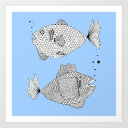 fish bed Art Print