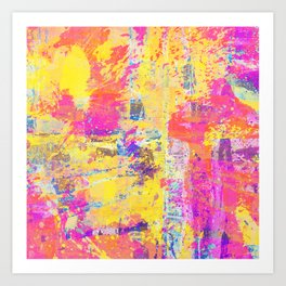 Always Look On The Bright Side - Abstract, textured painting Art Print