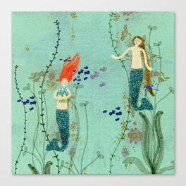 Where Mermaids Come From by Sarah Kiser Canvas Print
