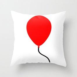 Red Balloon Emoji Throw Pillow