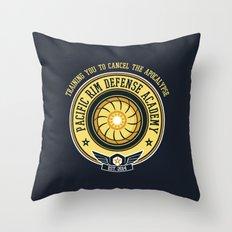 Pacific Rim Defense Academy Throw Pillow