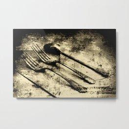 Vintage Forks and Spoon Metal Print