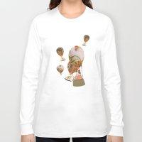 hot air balloon Long Sleeve T-shirts featuring Hot Air Balloon Dream by KarenHarveyCox