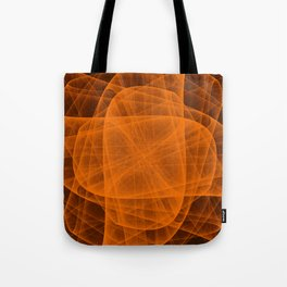 Eternal Rounded Cross in Orange Brown Tote Bag