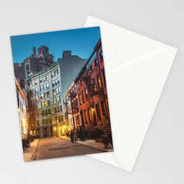 Twilight Hour - West Village, New York City Stationery Cards