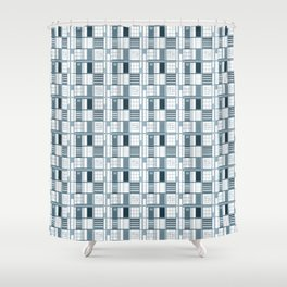 Other Blue-Cuadricula Shower Curtain