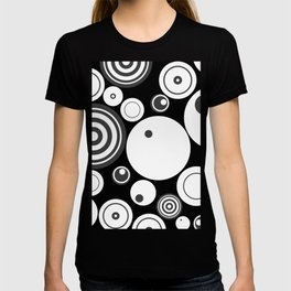 Circle Circus - 1960s Geometric Abstract T-shirt