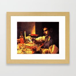 Reading the Cards Framed Art Print