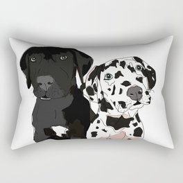 Great Dane Puppy Dogs: Olive & Oden Rectangular Pillow