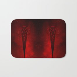 Devil Woman Pentagram Bath Mat