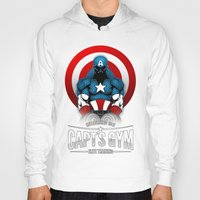gym Hoodies featuring Capt's Gym by Corey Courts