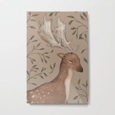 The Fallow Deer and Oats Metal Print