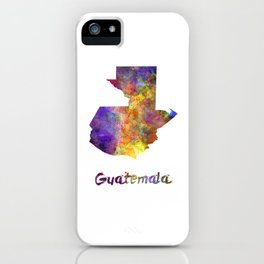 Guatemala  in watercolor iPhone Case