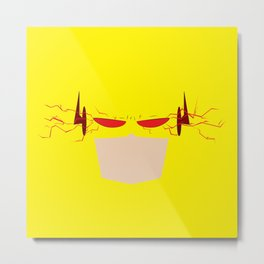 Reverse Flash Metal Print
