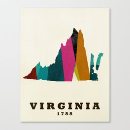 Virginia state map modern Canvas Print