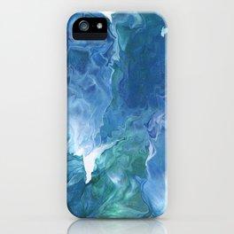 Blue Thunder by Julia Duerler iPhone Case