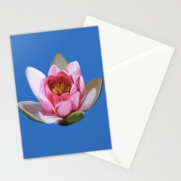 Lotus Flower on Blue  Stationery Cards