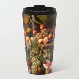 Severin Roesen - Still Life with Fruit, 1852 Travel Mug