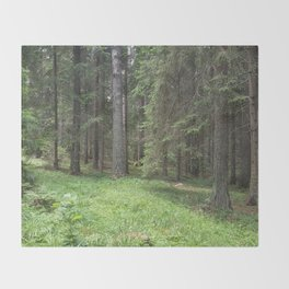 Pine forest Throw Blanket