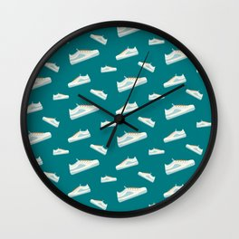 Summer sneakkers sport pattern Wall Clock