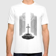 The Legend of Zelda: The Master Sword MEDIUM White Mens Fitted Tee