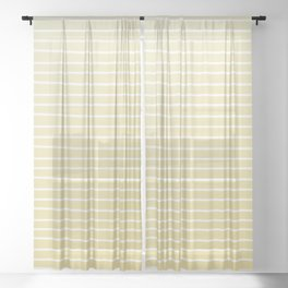 Simple Sunflower Yellow and Stripes Sheer Curtain