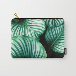 Modern Green leaf print Carry-All Pouch