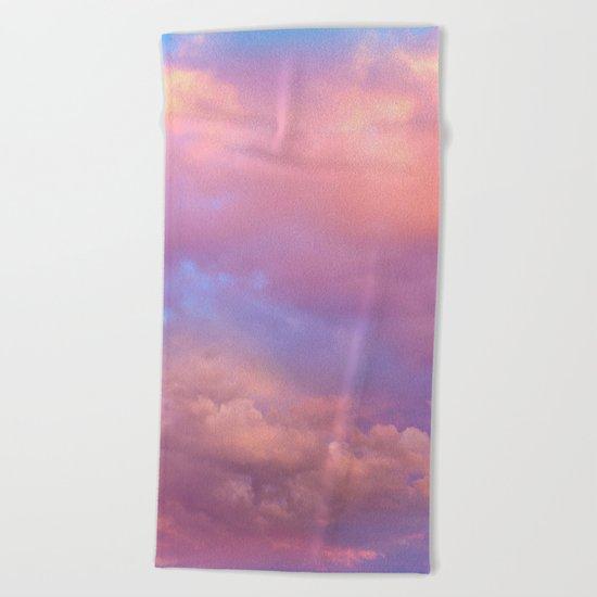 See the Dawn (Dawn Clouds Abstract) Beach Towel
