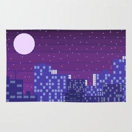 Purple Pixel City Rug