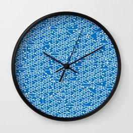 Microchip Pattern (Blue) Wall Clock