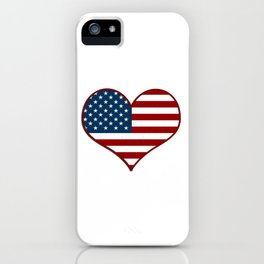 Love USA Heart Flag - Patriot/Independence Day iPhone Case