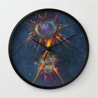 dreamcatcher Wall Clocks featuring Dreamcatcher by jbjart